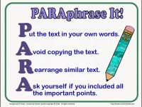 Successful Process of Teaching Paraphrasing To Young Writers