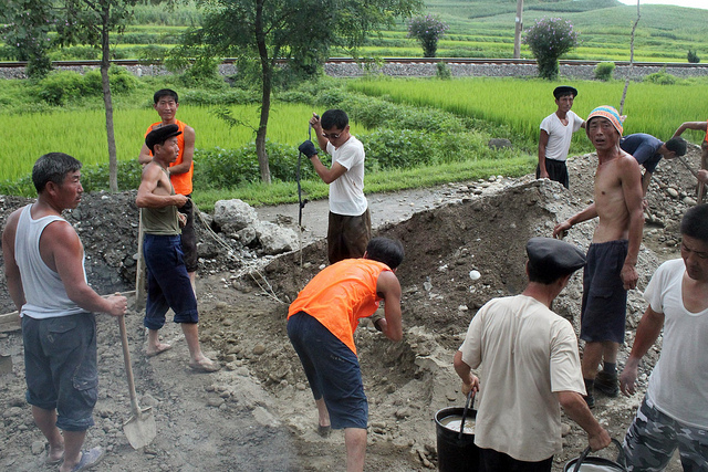 laborers in North Korea