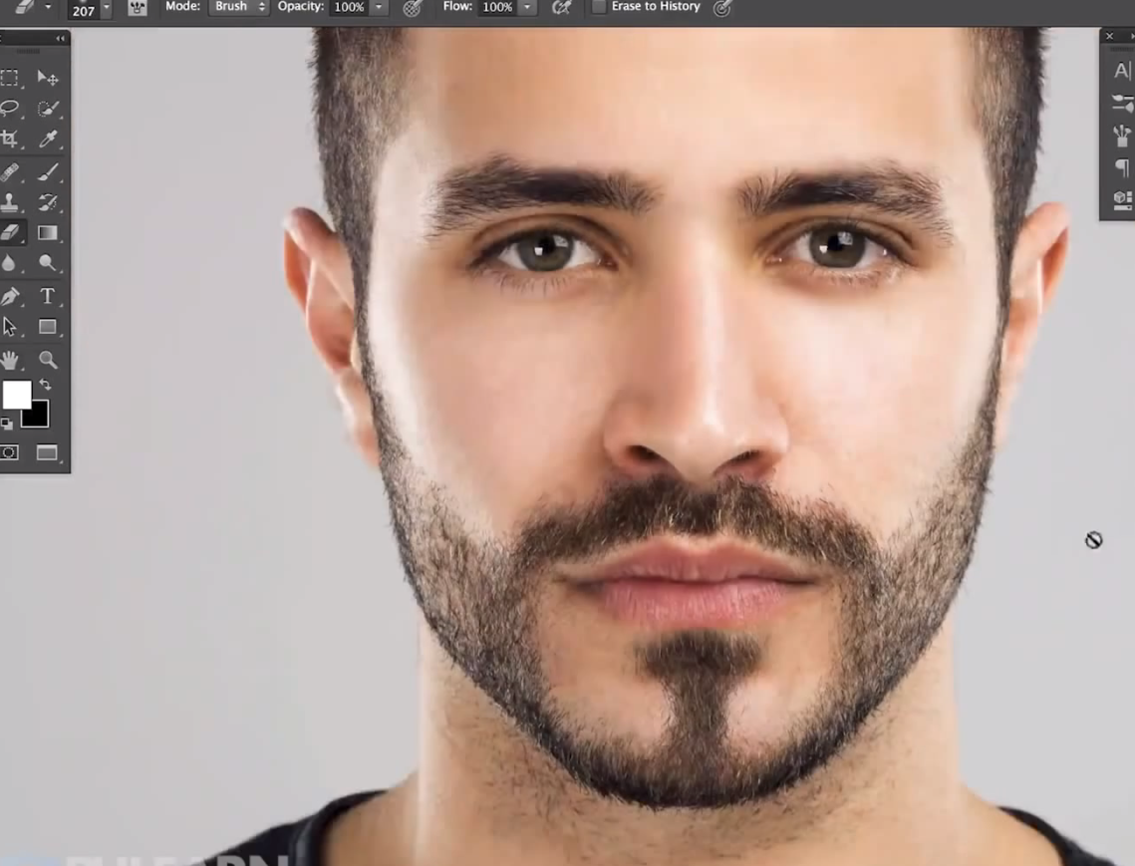 Tutorial how to create facial hair in photoshop video text baditri Image collections