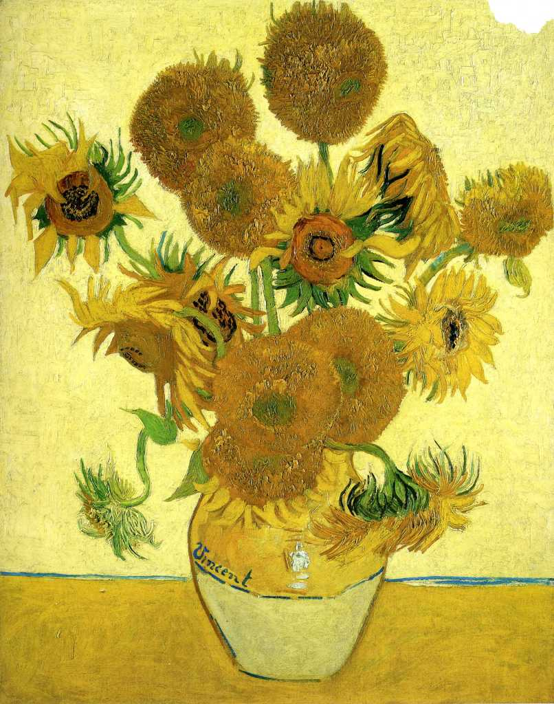 Vase-With-Sunflowers