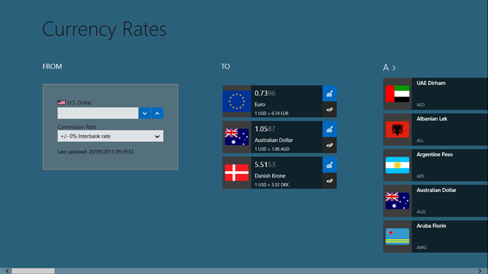 currency rates converter windows 10