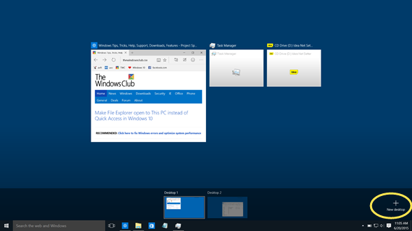 new desktop windows 10