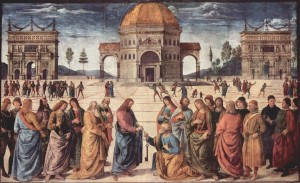 Jesus-teaches-the-keys-of-the-kingdom-of-heaven-to-Peter