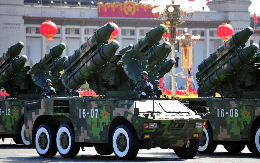 Chinese missile launchers