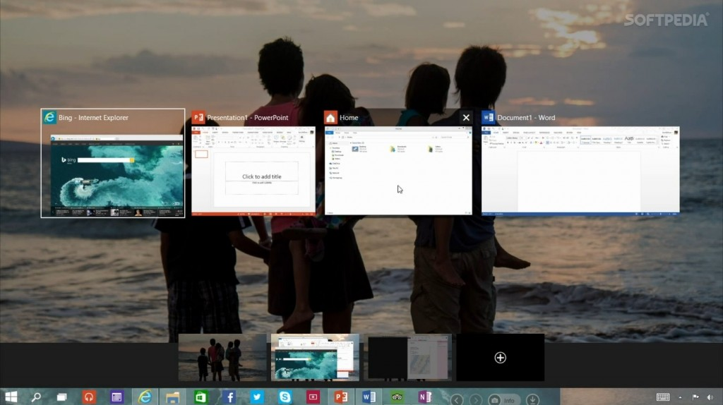 Multiple desktops