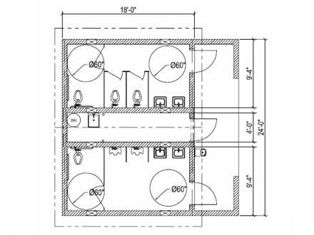 dimensions of a bathroom