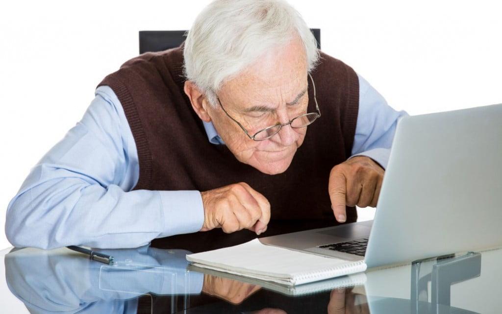 old man laptop