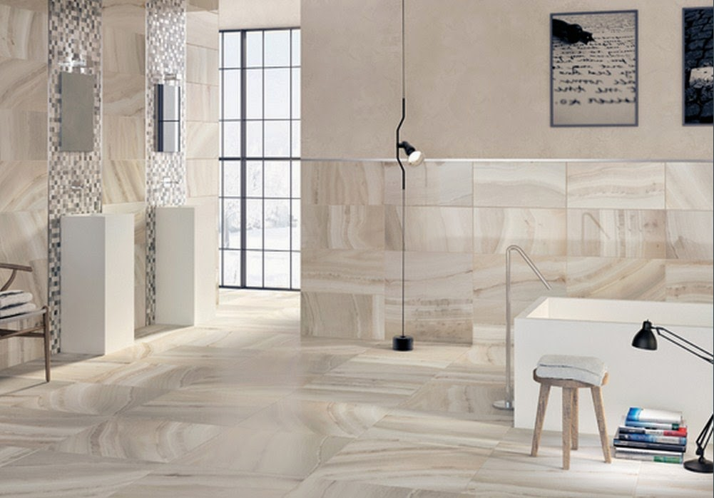 Innovative After Appear At The White Bathroom Wall Ceramic Tiles Design Picture